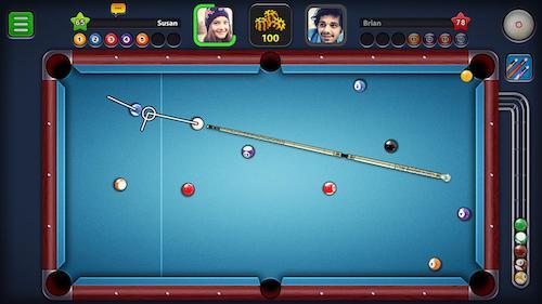 8 Ball Pool mod đường kẻ dài