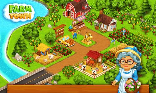 game nông trại Farm Town mod apk