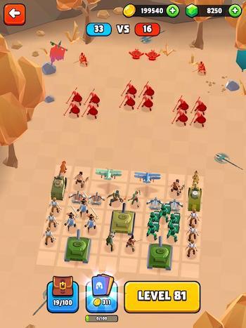 Battle Simulator: Warfare MOD vô hạn tiền