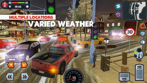Car Driving School Simulator hack mở khóa xe