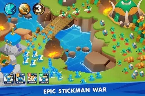Clash of Stickman mod mua sắm