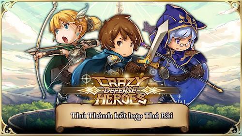 Crazy Defense Heroes mod vô hạn tiền