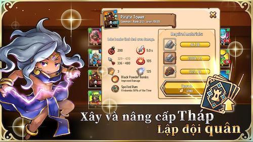 Crazy Defense Heroes game thẻ bài