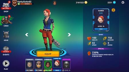 Zombie Blast Crew mod vô hạn tiền