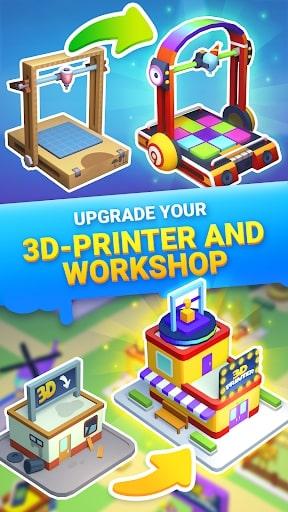Idle 3D Printer mod không quảng cáo