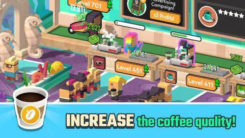 Idle Coffee Corp mod vô hạn tiền