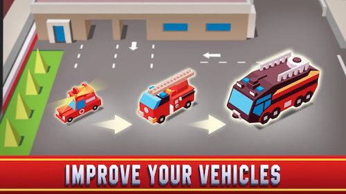 Idle Firefighter Empire Tycoon mod vô hạn tiền