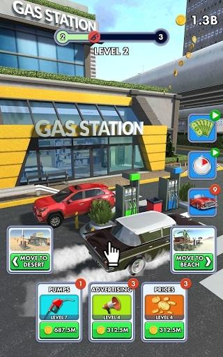 Idle Gas Station mod vô hạn tiền