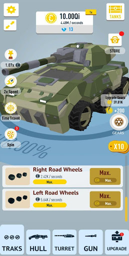 Idle Tanks 3D mod vô hạn kim cương