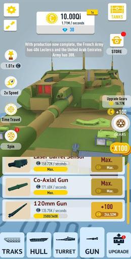 Idle Tanks 3D mod vô hạn tiền