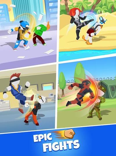 Game đánh nhau đường phố Match Hit