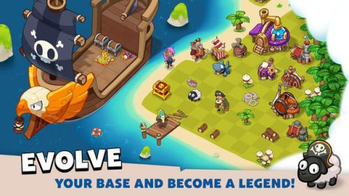 Pirate Evolution giao dịch trên đảo