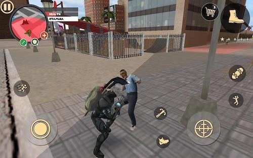 Rope Hero Vice Town game đường phố