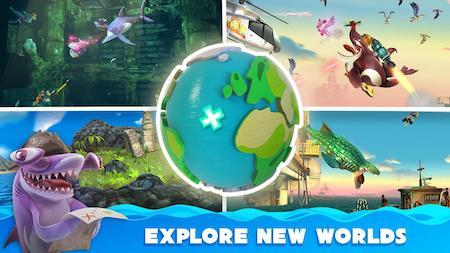 Đi khắp thế giới trong game Hungry Shark World