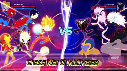 Super Stick Fight All-Star Hero hành đông hoành tráng