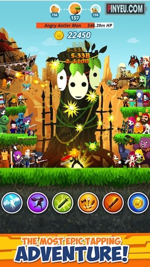tap titans 2 game hay cho android