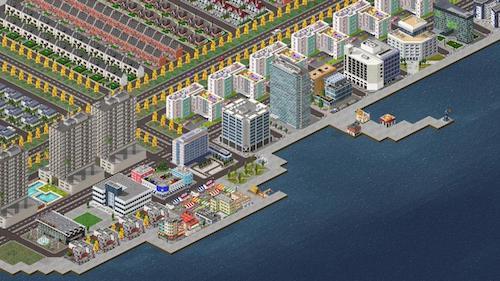 Theo town game thành phố