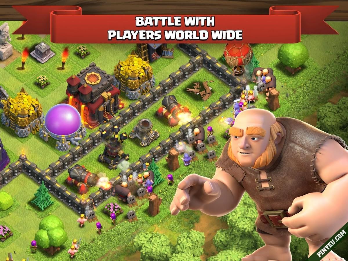Chiến đấu nảy lửa trong game Clash of Clans