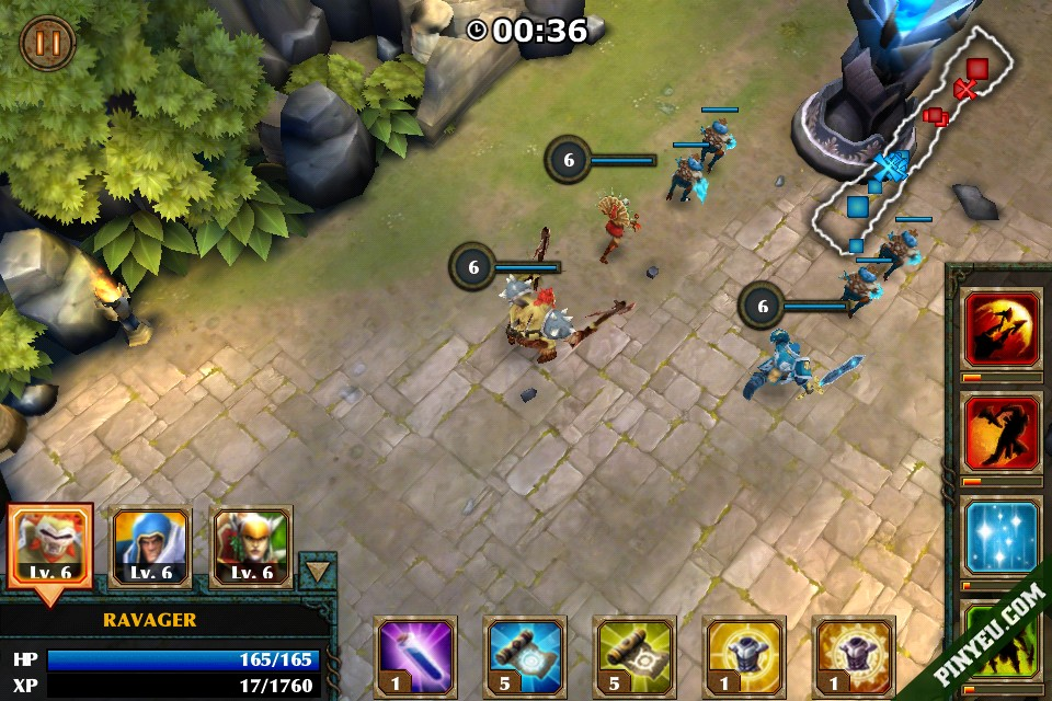 Hack Legendary Heroes cho android