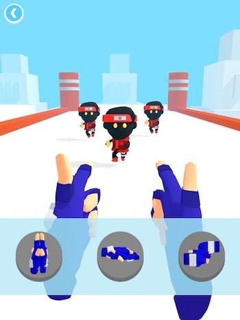 Ninja Hands mod mở khóa skin