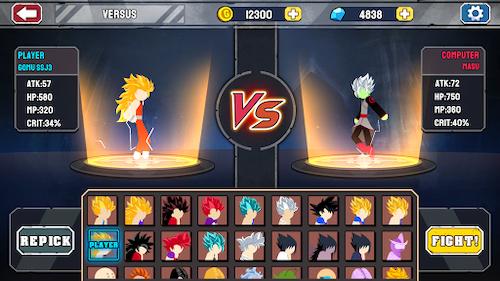 Game Stickman Warriors: Chiến Binh Rồng Thiêng