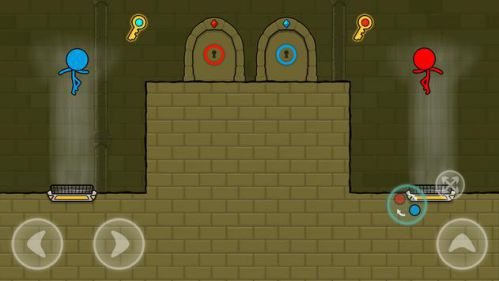 Red and Blue Stickman Animation Parkour 2 người chơi