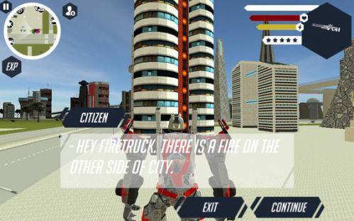 Robot Firetruck bảo vệ thành phố