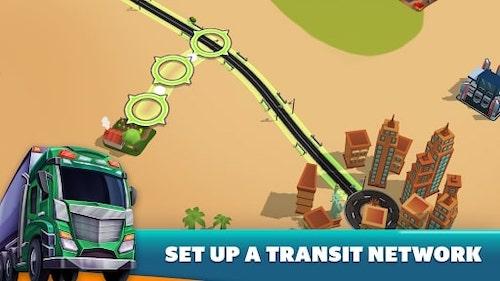 Transit King Tycoon: Xe tải mod vô hạn tiền